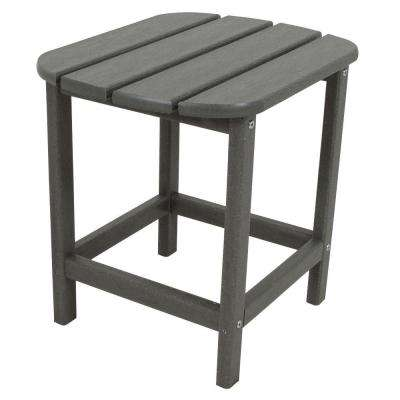 South Beach 18 In Slate Grey Patio Side Table