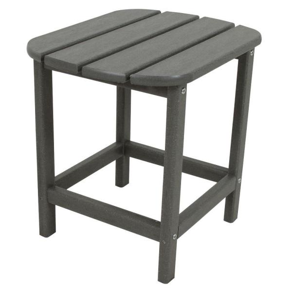 POLYWOOD South Beach Patio Side Table - Gray