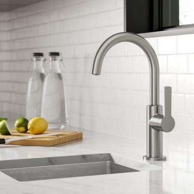 Oletto Single-Handle Kitchen Bar Faucet in Spot Free Stainless Steel