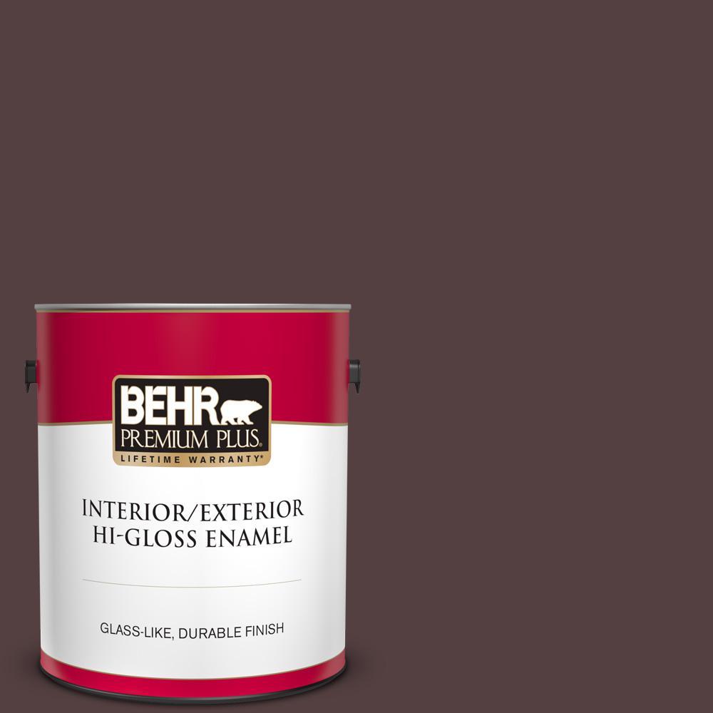 Behr Premium Plus 1 Gal Home Decorators Collection Hdc Fl14 9 Black Raspberry Hi Gloss Enamel Interior Exterior Paint 830001 The Home Depot