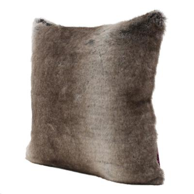 Lindsey Ash White Solid Polyester 18 in. x 18 in. Throw Pillow