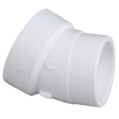 3 in. PVC DWV 22-1/2-Degree H x SPG Street Elbow