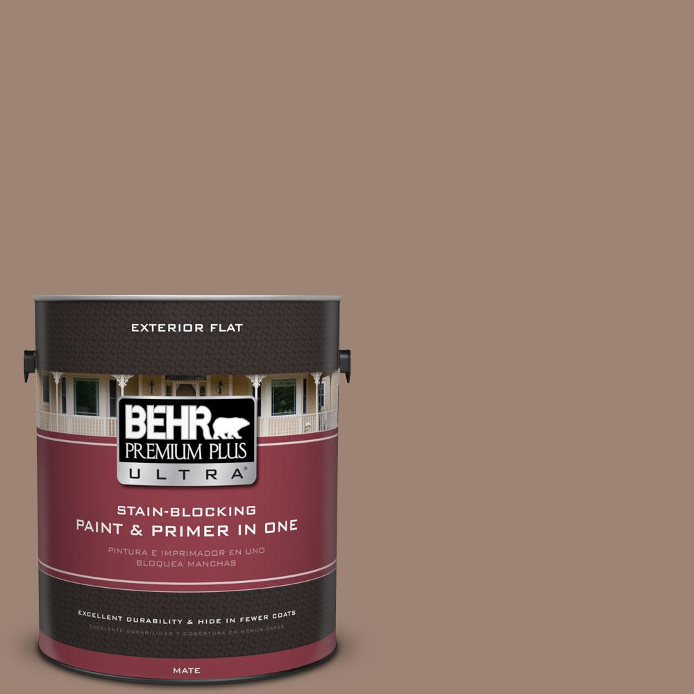 1-gal. #760B-5 Blanket Brown Flat Exterior Paint