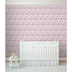 Mitchell Black Baby Collection Tigers in Red Removable and Repositionable Wallpaper