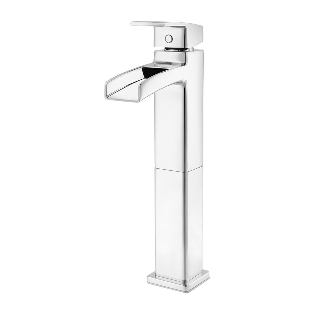 Pfister Kenzo Single Hole Single-Handle Vessel Bathroom Faucet in Polished  Chrome