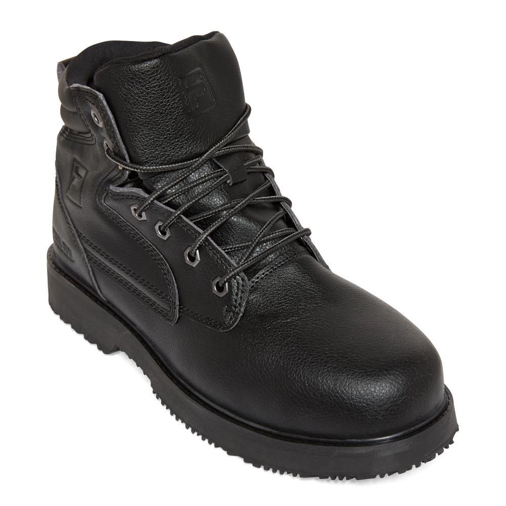 Fila Men's Landing Steel 8'' Work Boots Steel Toe BLACK Size 7(M)