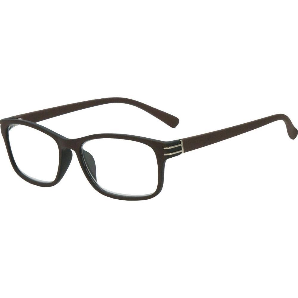 Envy Silverton Brown Men's 1.25 Diopter Reading Glasses