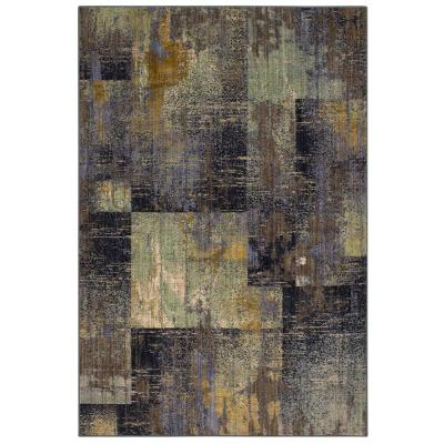 Empire Periwinkle 10 ft. x 13 ft. Geometric Area Rug