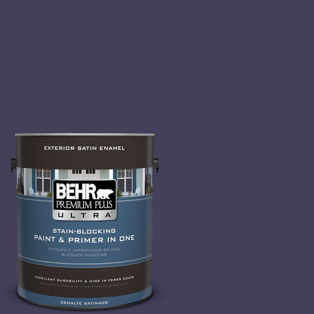 BEHR Premium Plus Ultra 1-gal. #S-H-640 Purple Blanket Satin Enamel Exterior Paint