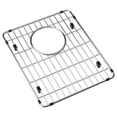 Fireclay 11.8125 in. x 14.1875 in. Bottom Grid for Kitchen Sink in Stainless Steel