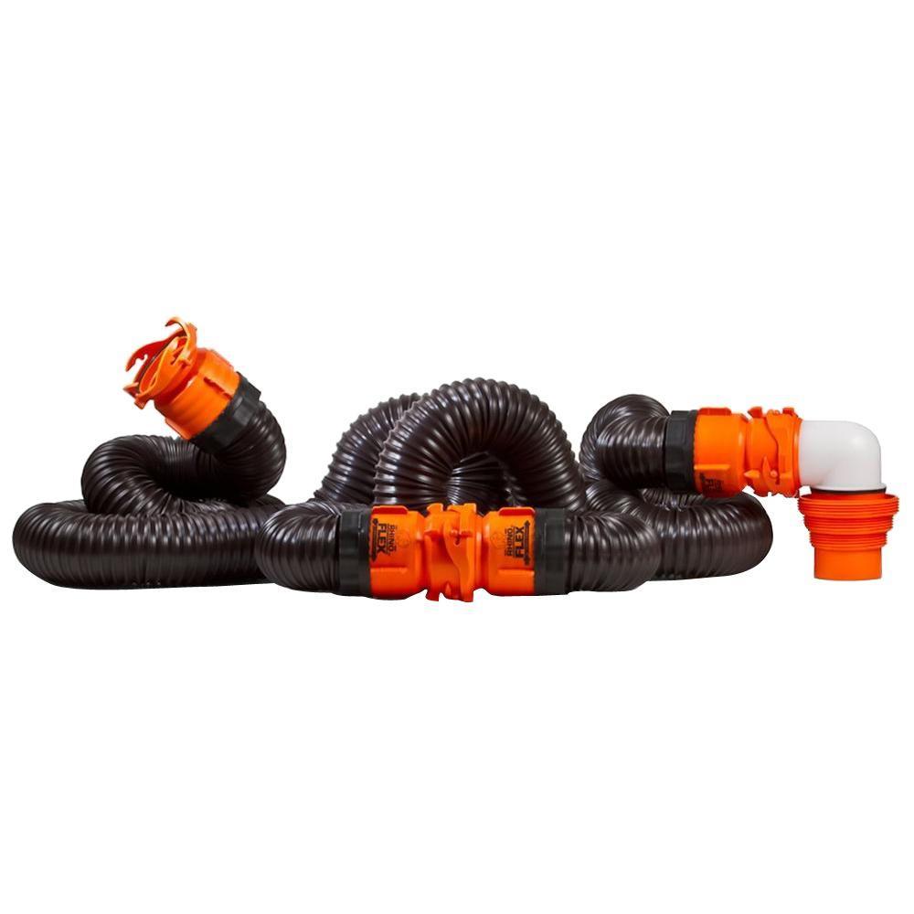 RhinoFLEX 20 ft. Sewer Hose Kit with Swivel Fittings