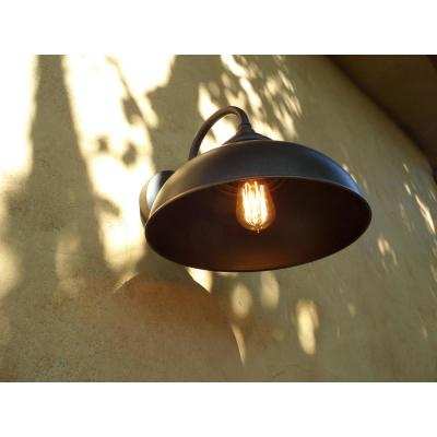 1-Light Oil Rubbed Bronze Outdoor Wall Mount Barn Light Sconce