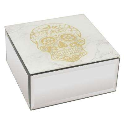 2.25 in. Gold Glass Mirrored Box