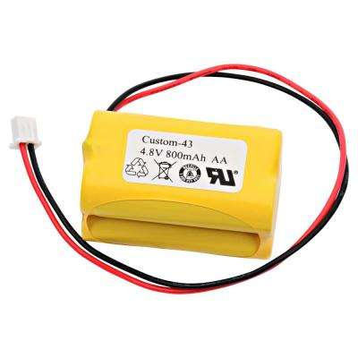 Dantona 4.8-Volt 800 mAh Ni-Cd battery for Simkar - 6600012 Emergency Lighting