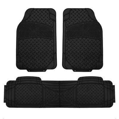 Black Heavy Duty 3-Piece 29 in. x 18 in. Vinyl Trim to Fit Car Floor Mats