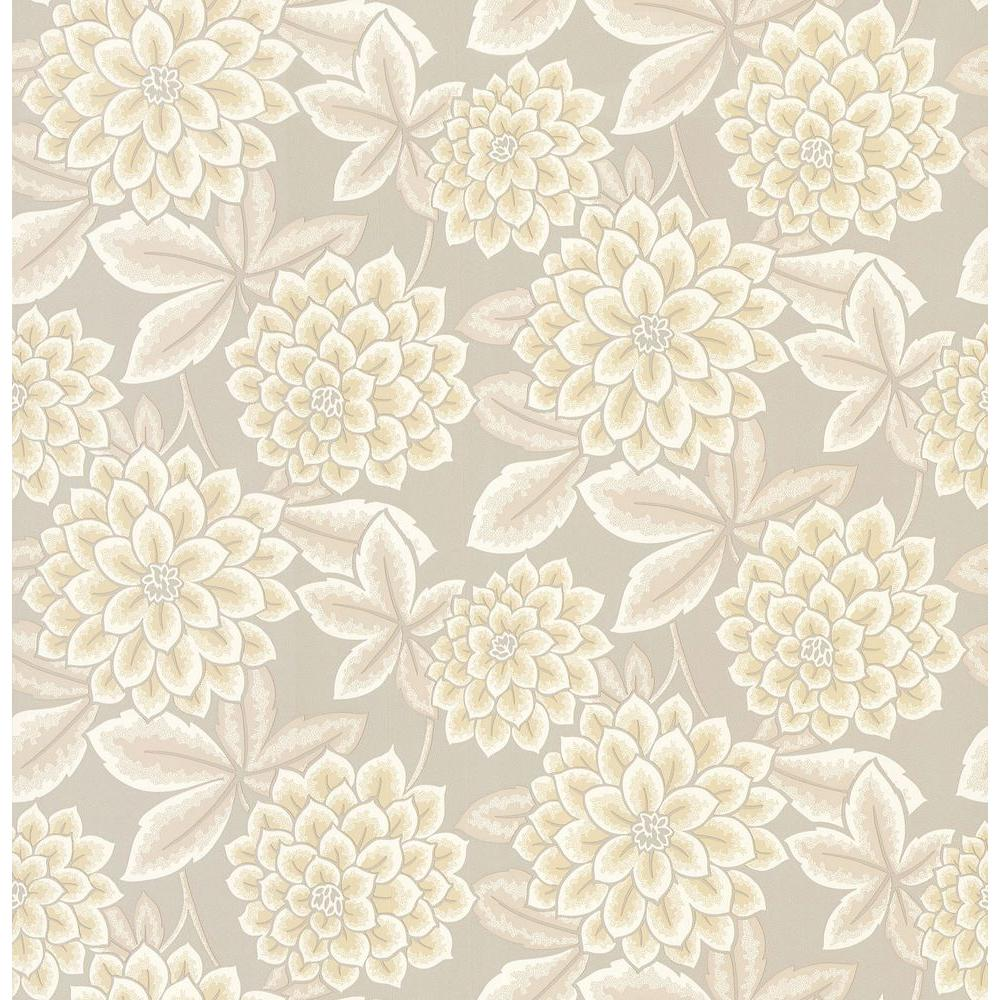 Brewster Zinnia Floral Wallpaper