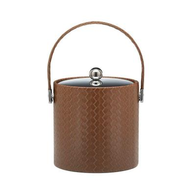 San Remo Pinecone 3 Qt. Ice Bucket with Stitched Handle, Metal Lid