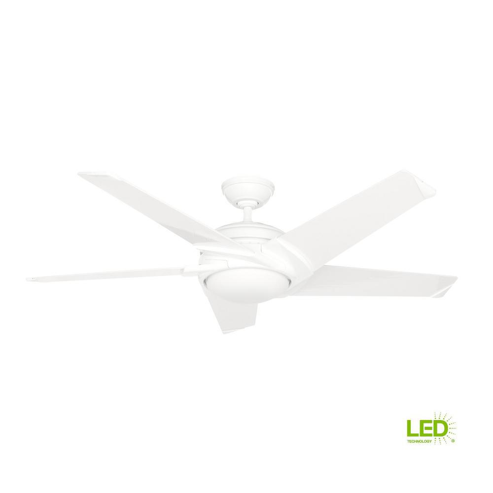 Stealth Dc 54 In Led Indoor White Ceiling Fan With Remote