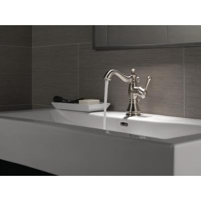 Cassidy Single Hole Single-Handle Open Channel Spout Bathroom Faucet with Metal Drain Assembly in Chrome