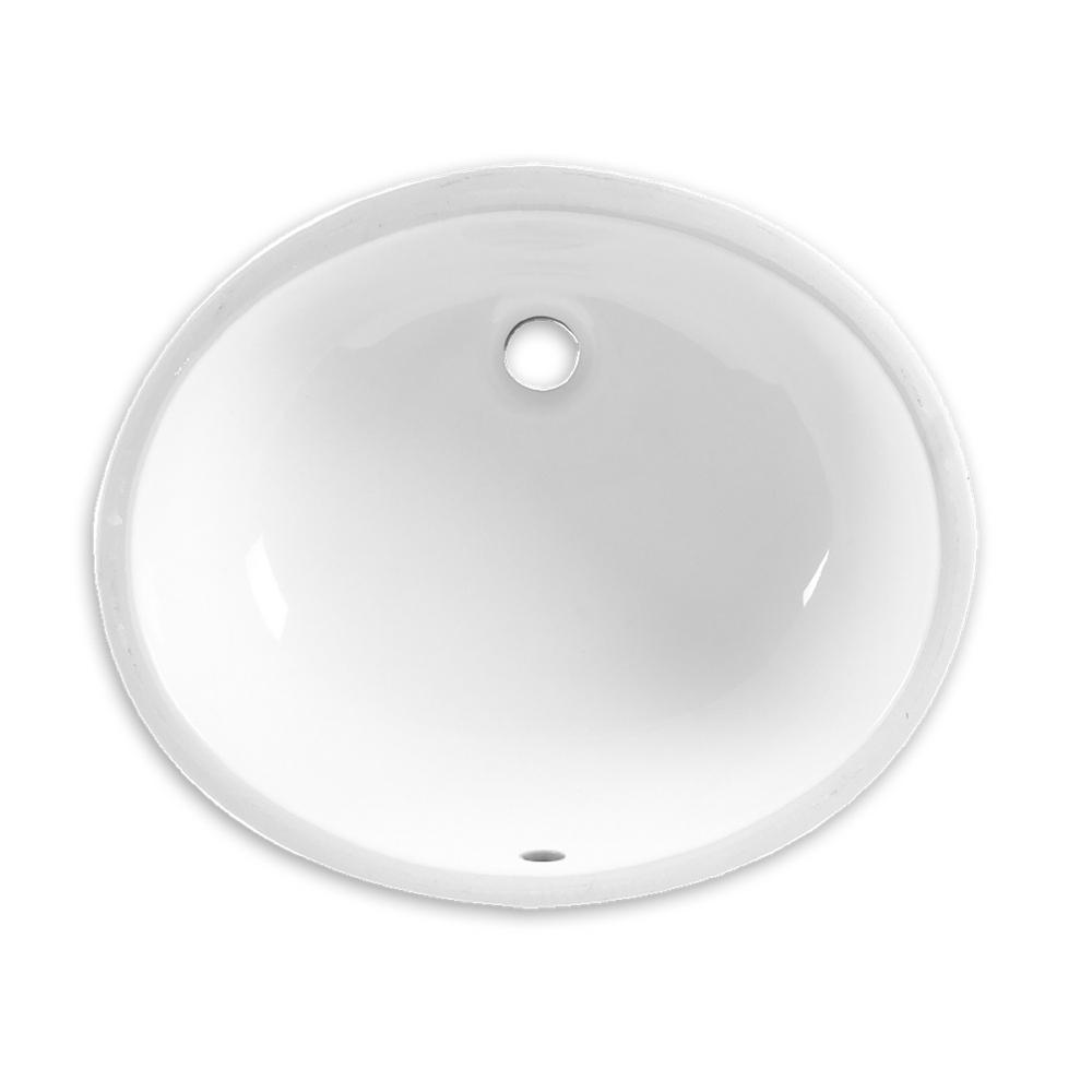 Ovalyn Undermount Bathroom Sink In White