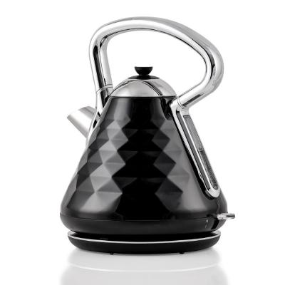 7.1-Cup Black Electric Kettle with Boil-Dry Protection and Auto Shut-Off, Cleo Collection (KS755B)