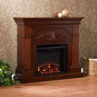 Oliver 44.75 in. Freestanding Electric Fireplace in Mahogany