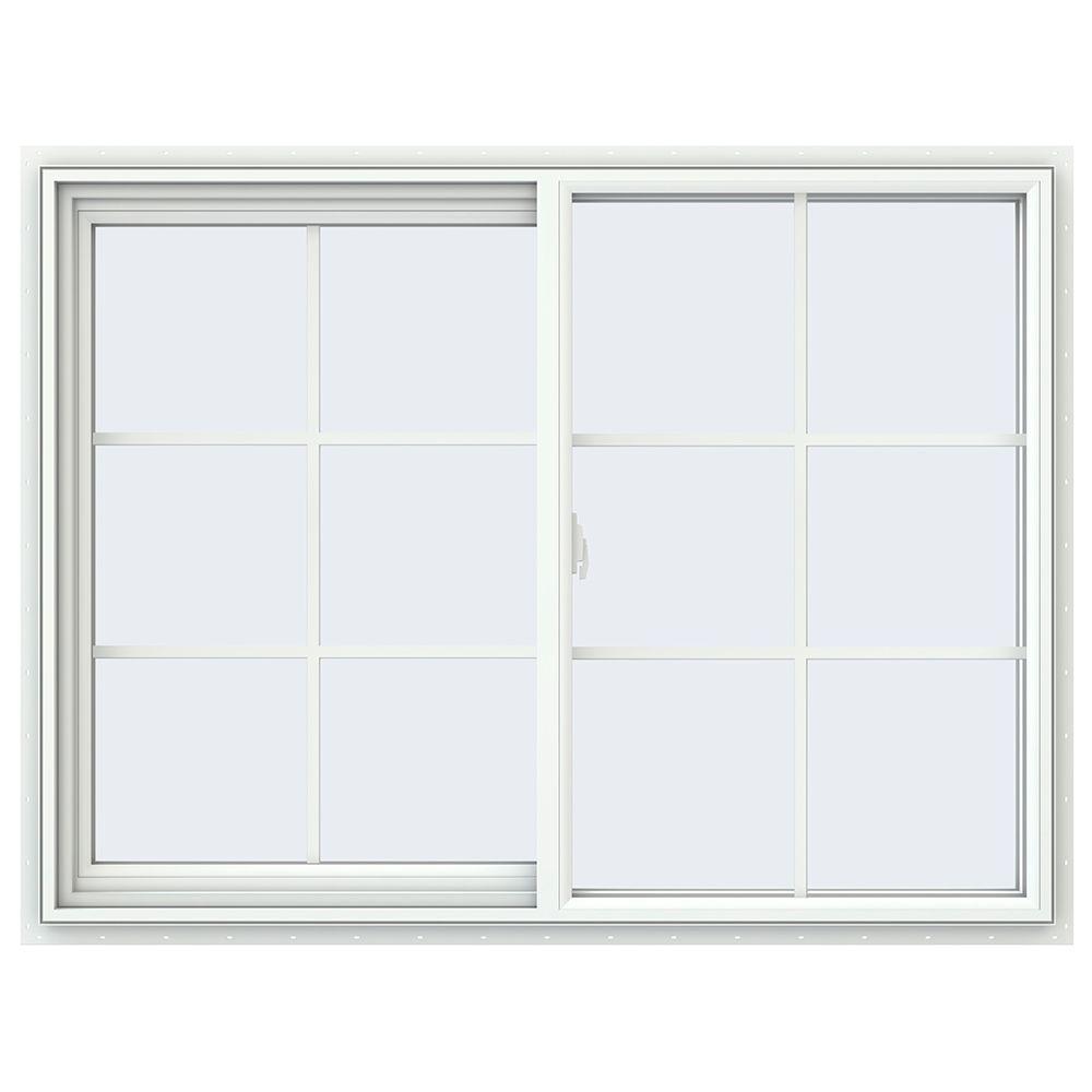 JELD-WEN 47.5 in. x 53.5 in. V-2500 Series White Vinyl Single Hung ...