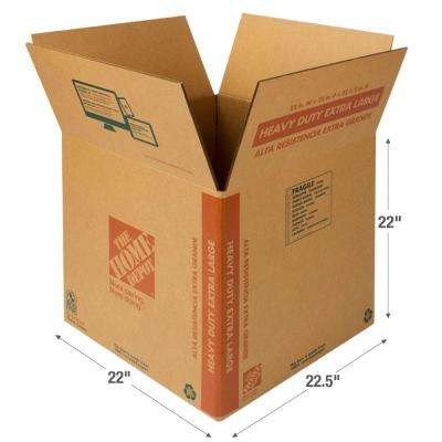 22 in. L x 22 1/2 in. W x 22 in. D Heavy Duty Extra Large Moving Box