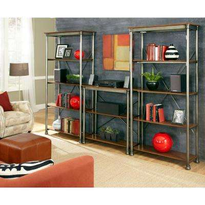 13-Shelf 114 in. W x 76 in. H x 16 in. D, Wood and Steel Orleans Storage Shelving Unit