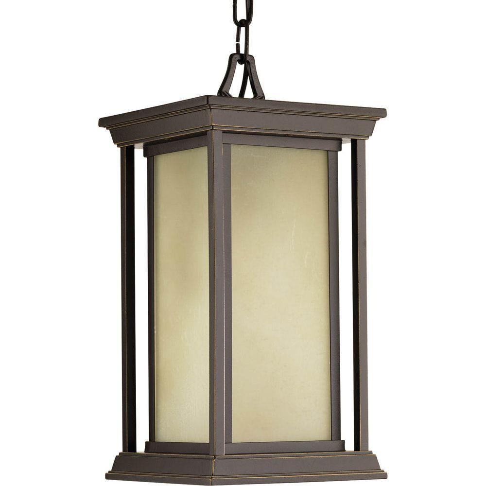 Endicott Collection 1-Light Outdoor Antique Bronze Hanging Lantern