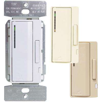 AL Series 300-Watt Dimmable LED/CFL Dimmer with Presets Color Change Kit, Almond/White/Ivory