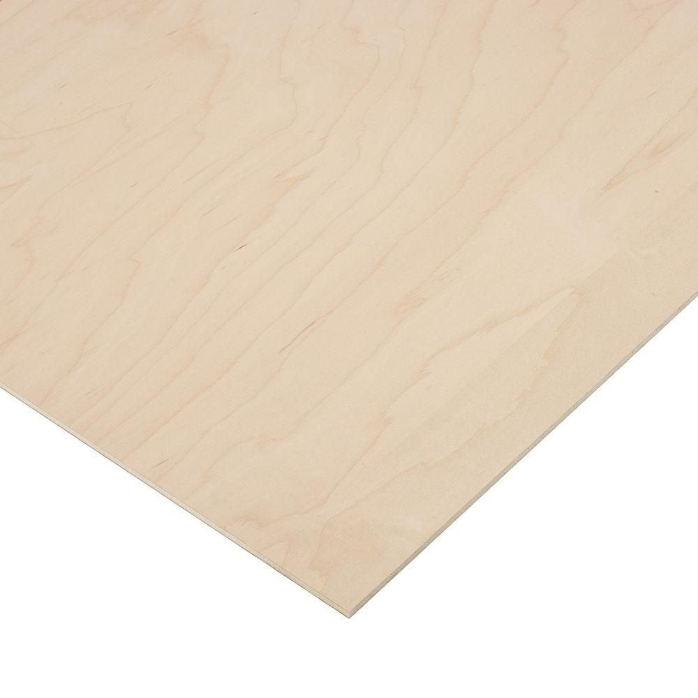 Columbia Forest Products 1/4 in. X 1 ft. x 1 ft. 7 in. PureBond Maple Plywood Project Panel (10-pack)