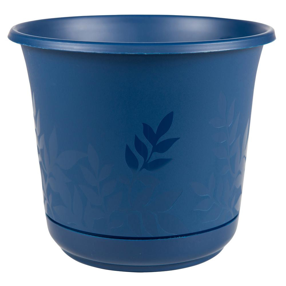 Freesia 16 in. Deep Sea Plastic Planter