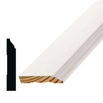 WM 623 9/16 in  x 3-1/4 in  x 144 in  Primed Finger-Jointed Pine Base  Moulding Pro Pack (10-Pack)