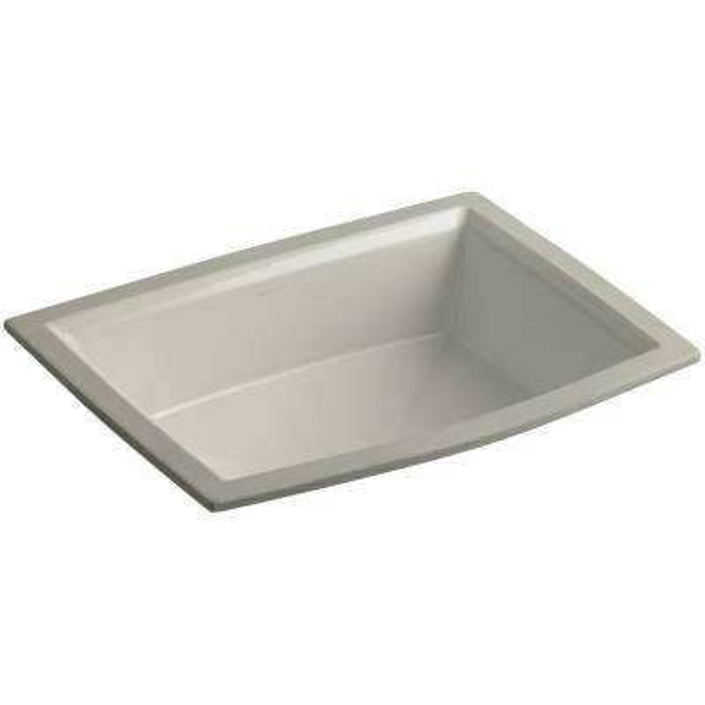 Archer Vitreous China Undermount Bathroom Sink with Overflow Drain in Sandbar with Overflow Drain