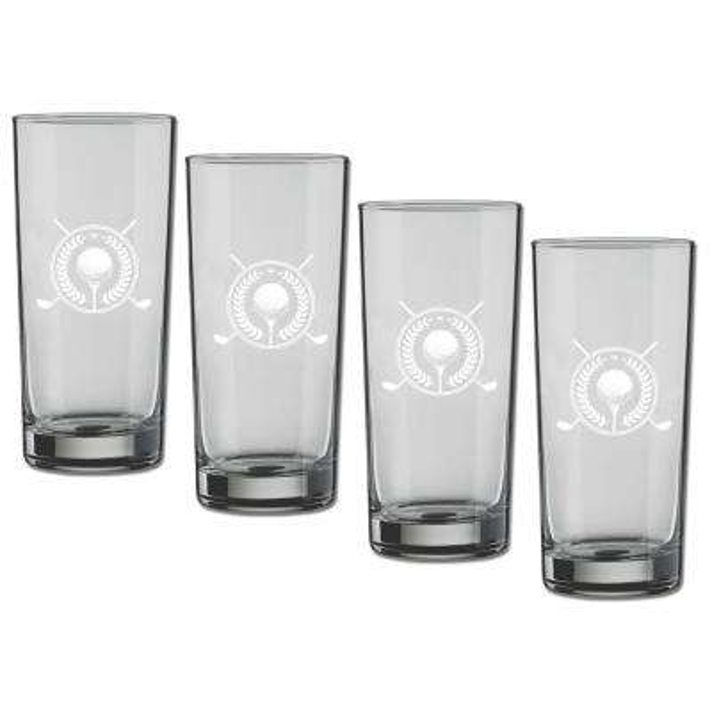 Kasualware Golf 16 oz. Highball Glass (Set of 4)