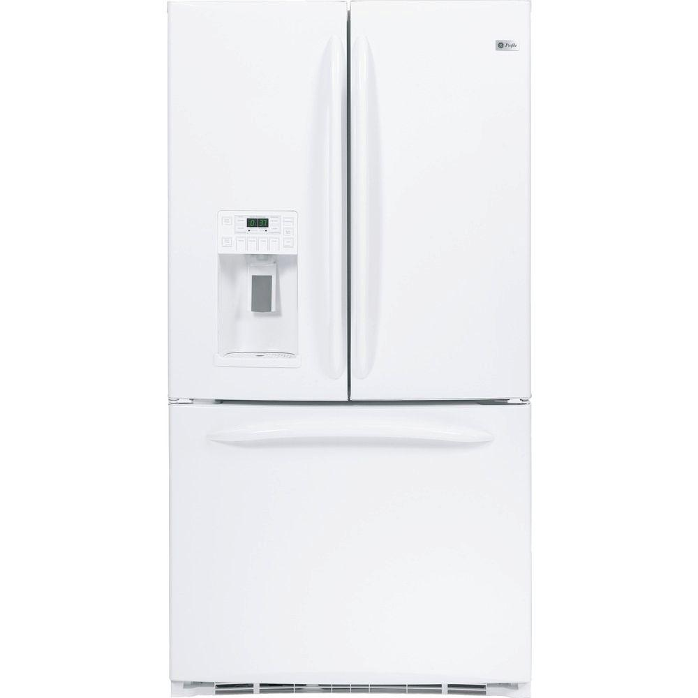 GE Profile 20.9 cu. ft. French Door Refrigerator in White