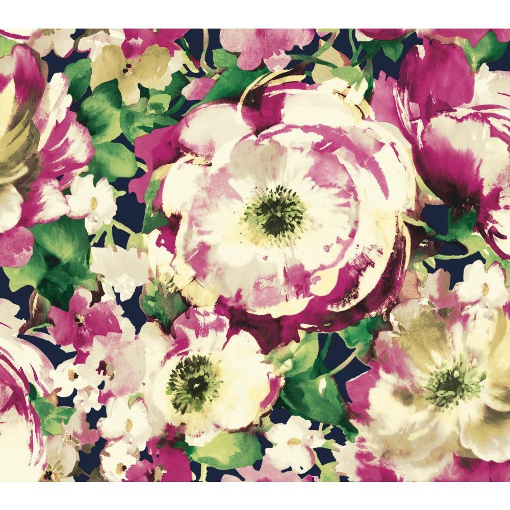 poppy flowers vintage Wall Mural Wallpaper Canvas Art