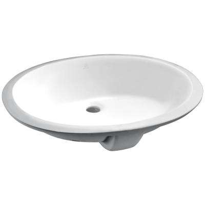 Rhodes Series 7.75 in. Ceramic Undermount Sink Basin in White