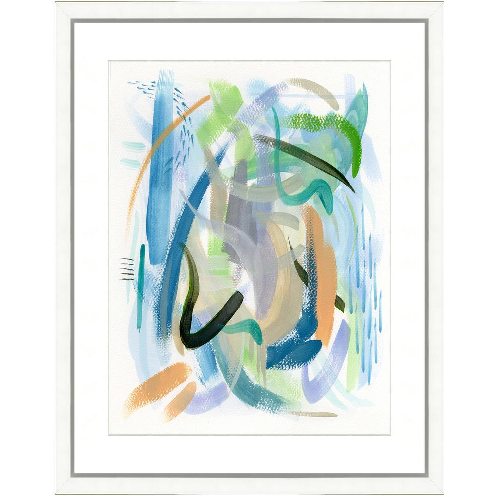 """Colorful brushstrokes II"" Framed Archival Paper Wall Art (20 in. x 4 in. in full size)"