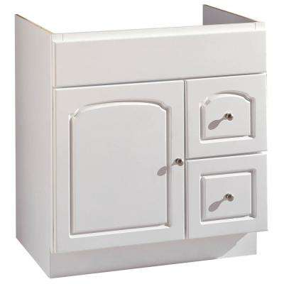 30 in. W Bathroom Vanity Cabinet Only in White Aspen Finish