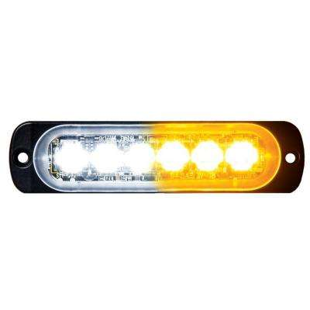 Amber/Clear LED Horizontal Strobe Light