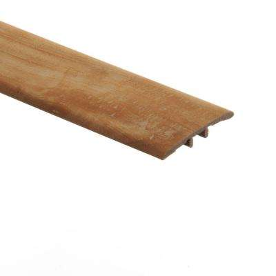 Vintage Oak Natural/Pasture Oak 5/16 in. Thick x 1-3/4 in. Wide x 72 in. Length Vinyl T-Molding