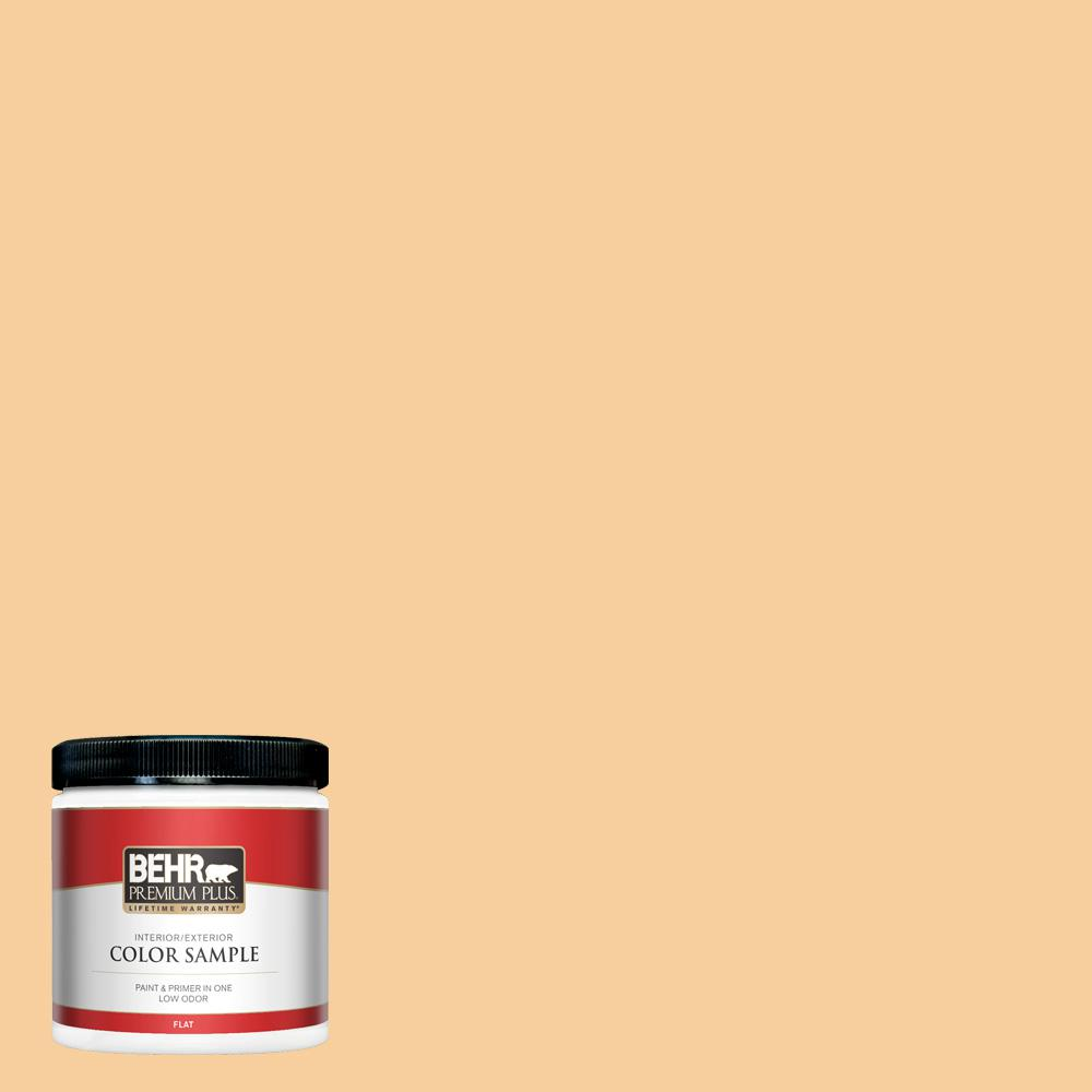 Behr Premium Plus 8 Oz 310c 3 Warm Cocoon Flat Interior Exterior Paint And Primer In One Sample Pp10416 The Home Depot