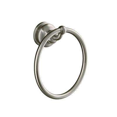 Fairfax Towel Ring in Vibrant Brushed Nickel