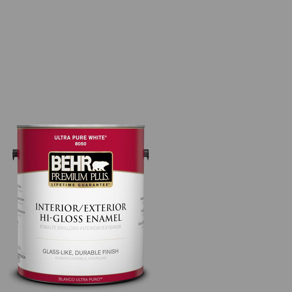 1 gal. #HDC-NT-10A Dolphin Gray Interior/Exterior Hi-Gloss Enamel Paint
