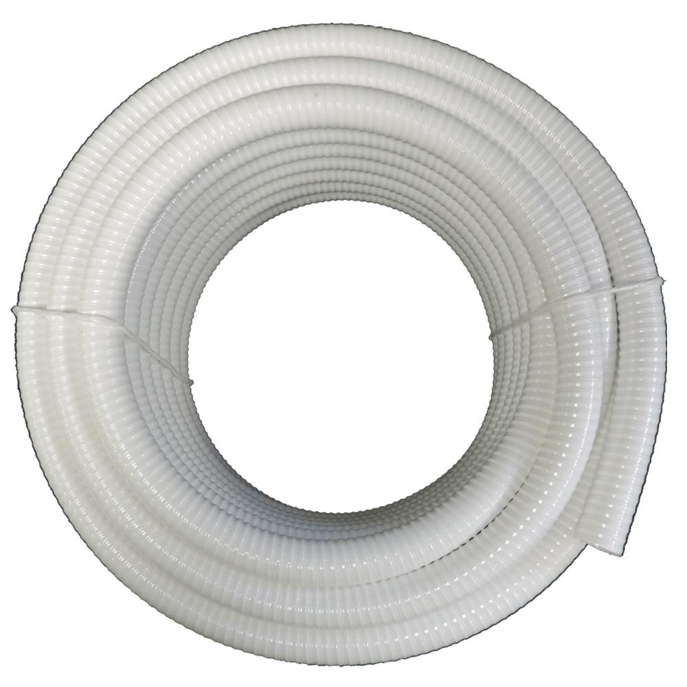 TekTube 1-1/2 in. x 100 ft. PVC Schedule 40 White Ultra Flexible Pipe
