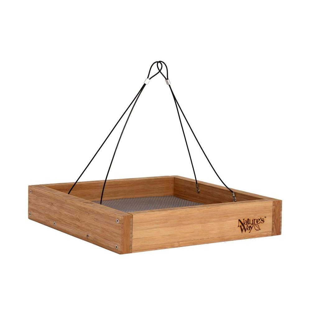 Bamboo Tray Bird Feeder