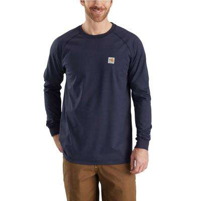 Men's Tall Medium Dark Navy FR Force Long Sleeve T-Shirt