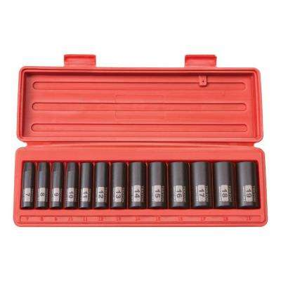 3/8 in. Drive 7-19 mm 12-Point Deep Impact Socket Set